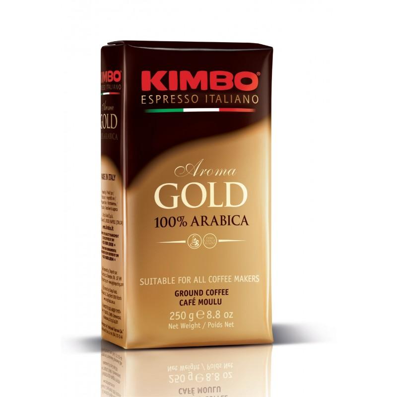 KIMBO AROMA GOLD 100 ARABICA 250 ГР ВАКУУМ 20БР/СТ